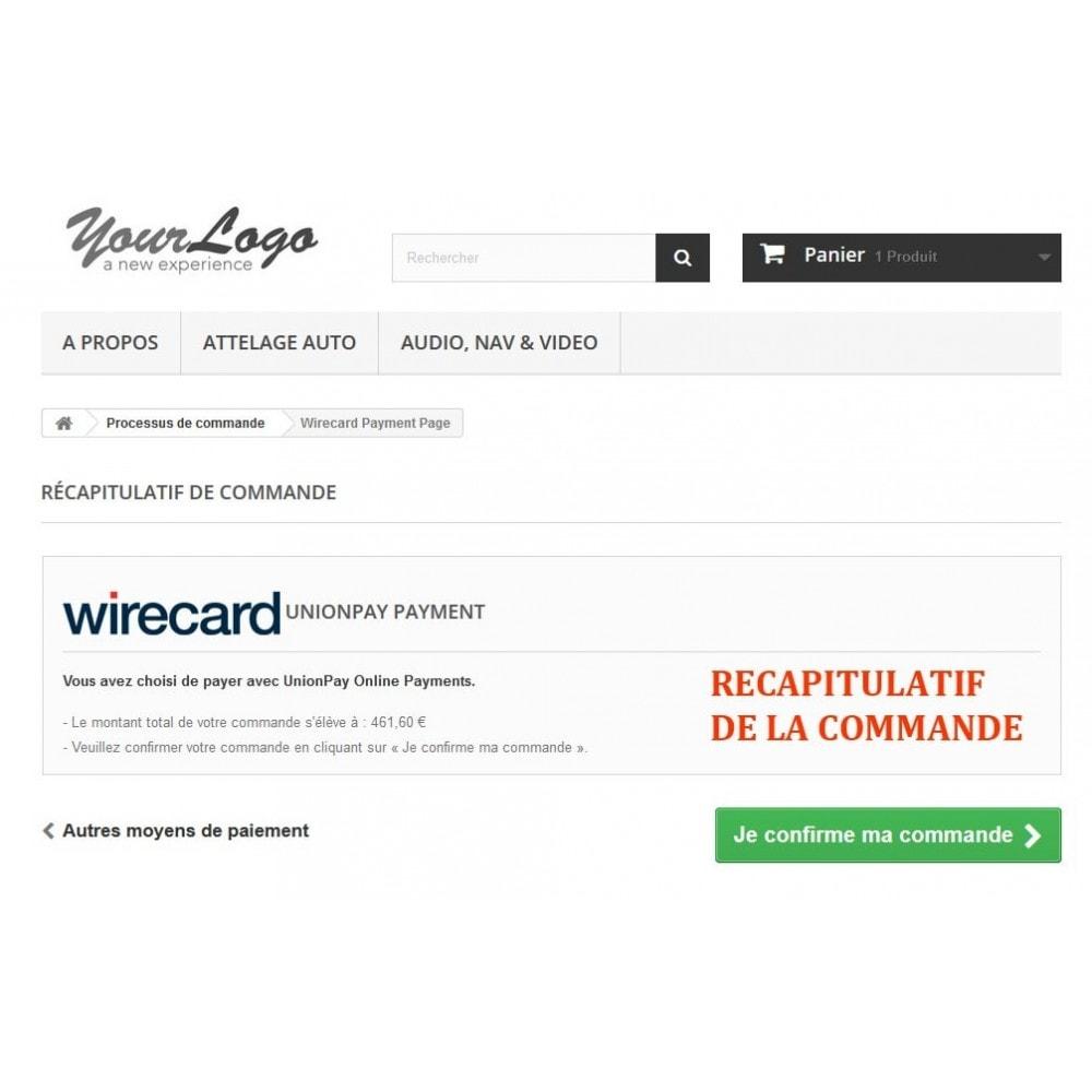 module - Autres moyens de paiement - Paiement Wirecard UnionPay Online - 4