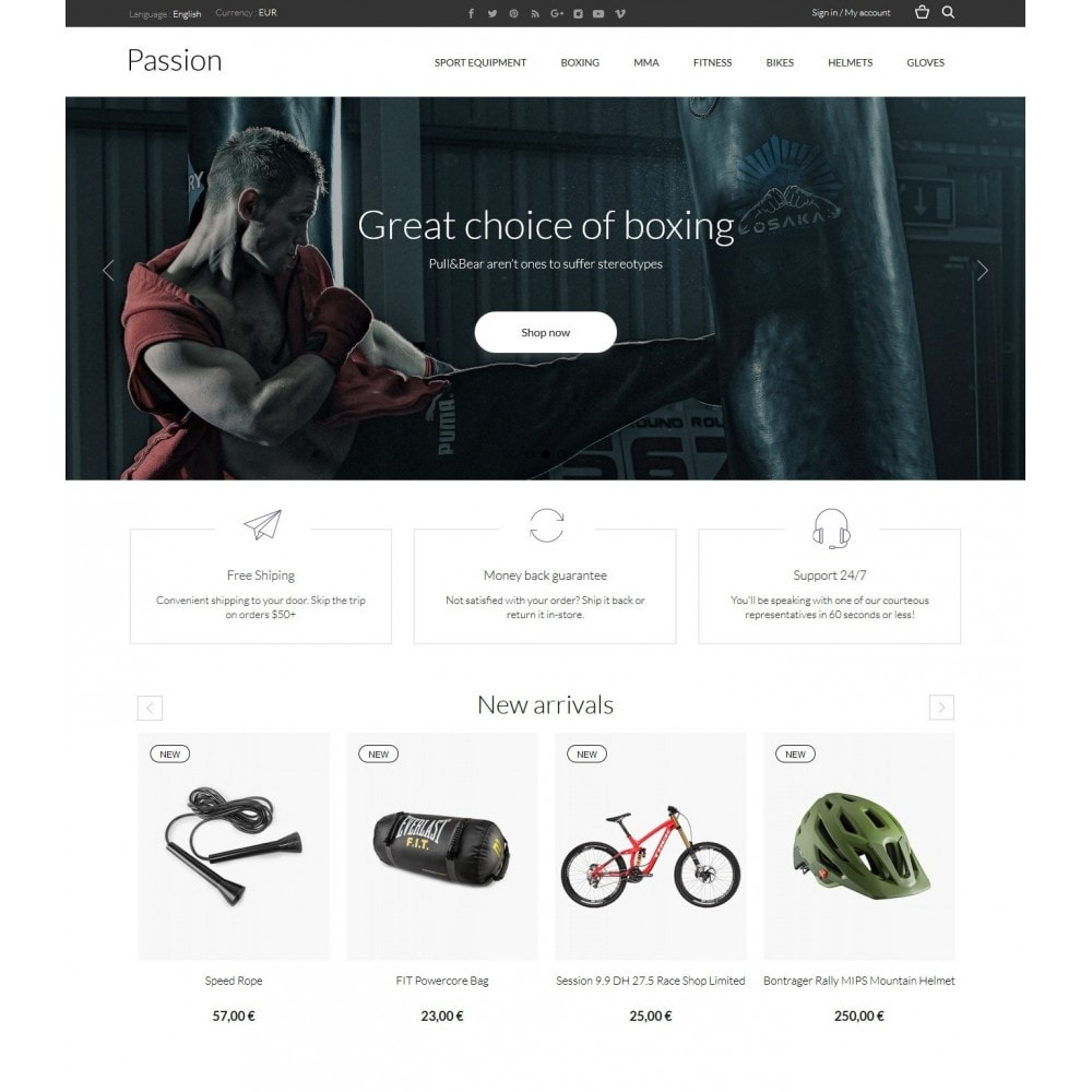 theme - Sports, Activities & Travel - Passion - Sport Store - 2