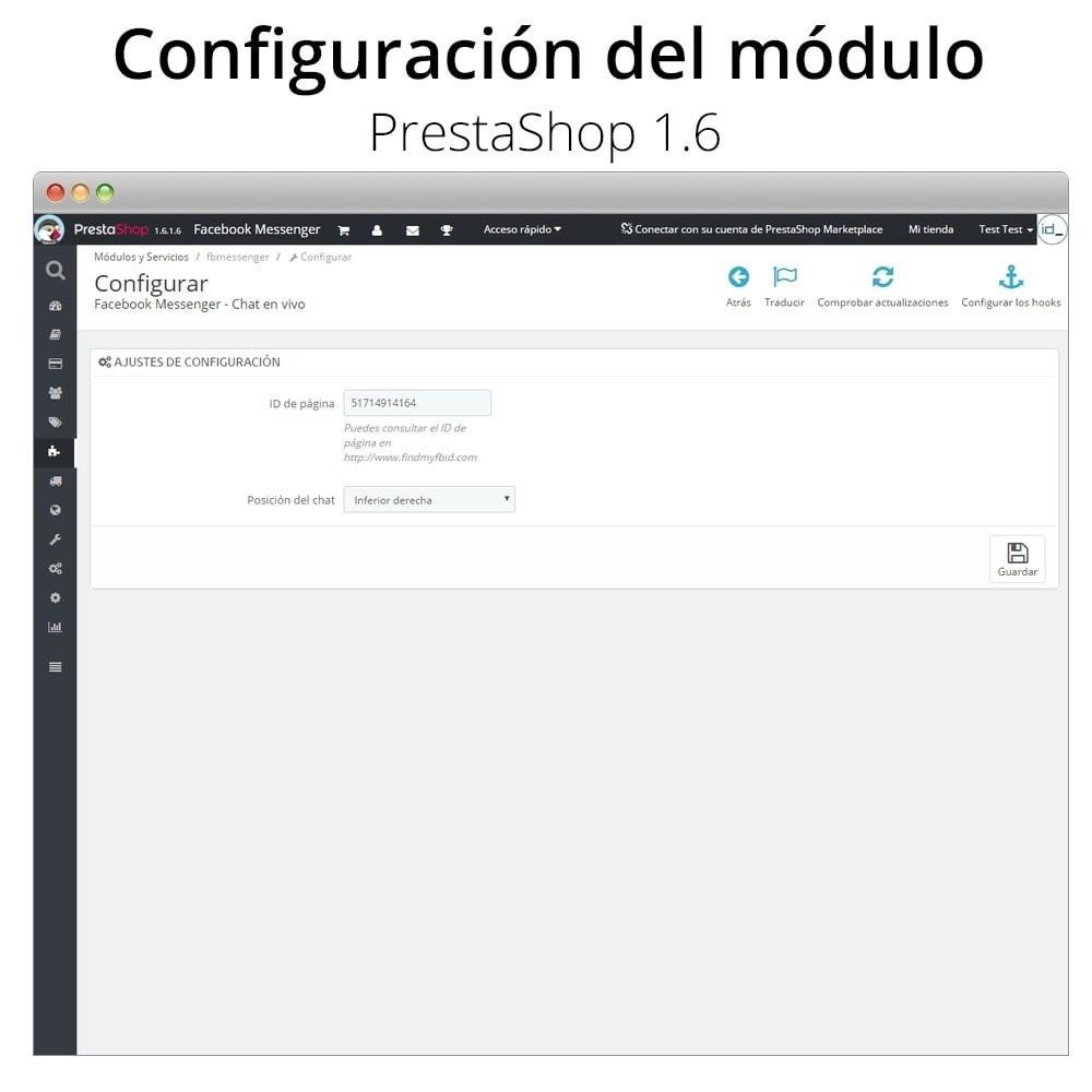 module - Asistencia & Chat online - Messenger Chat en vivo - para red social - 2