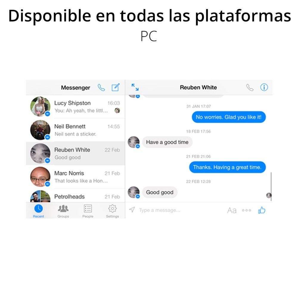 module - Asistencia & Chat online - Messenger Chat en vivo - para red social - 5