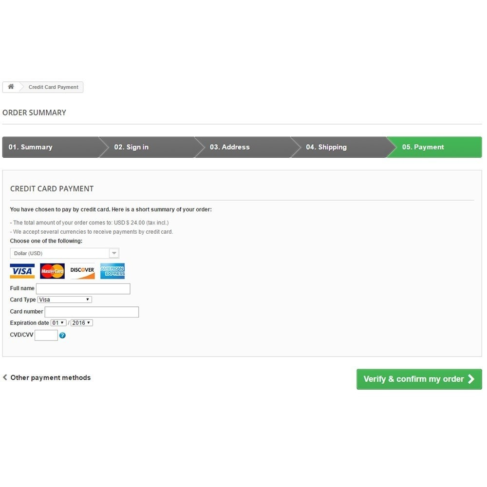 module - Payment by Card or Wallet - Bambora/Beanstream Official Payment - 4