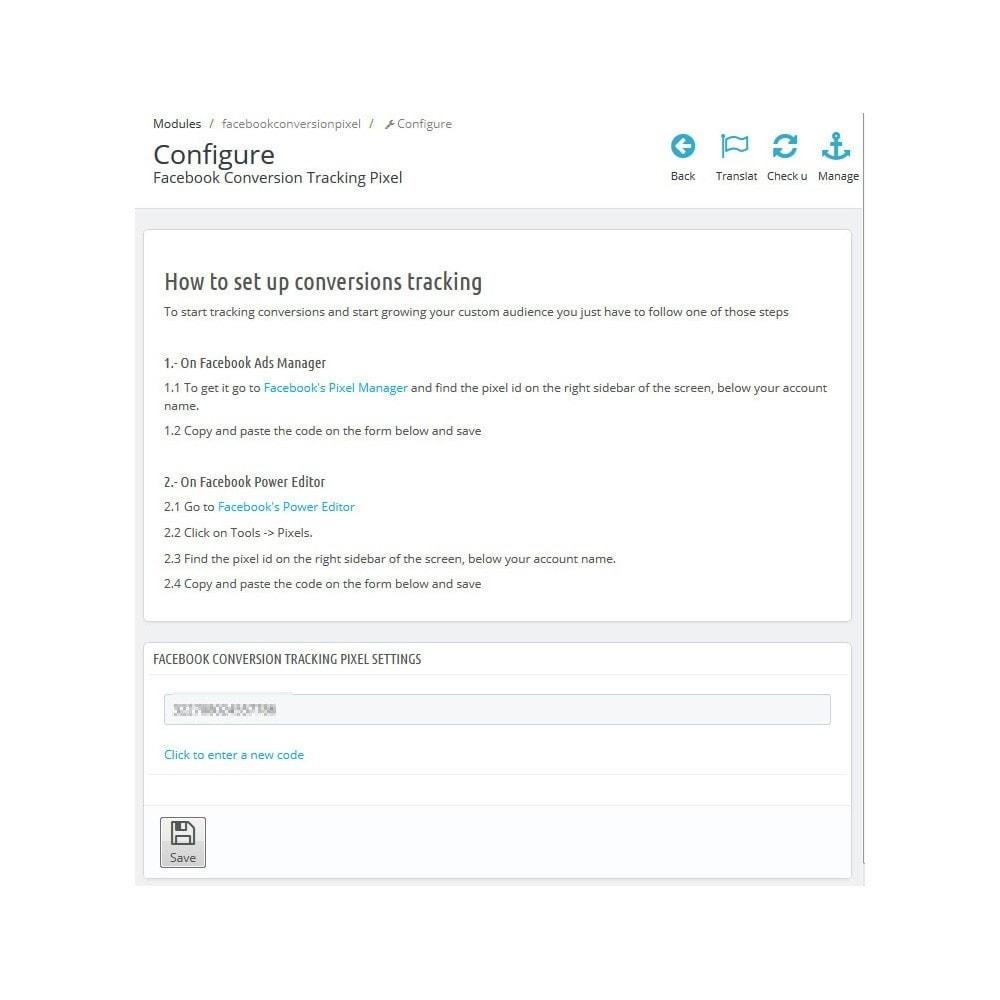 module - Remarketing & Paniers Abandonnés - Pixel de suivi de conversion + Audience Personnalisée - 1