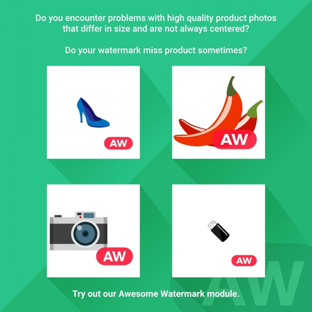 module - Badges & Logos - Awesome watermark and AJAX product photo regeneration - 1