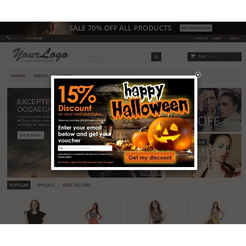 module - Pop-up - Email Leads Collector Popup with Discount Coupon - 6