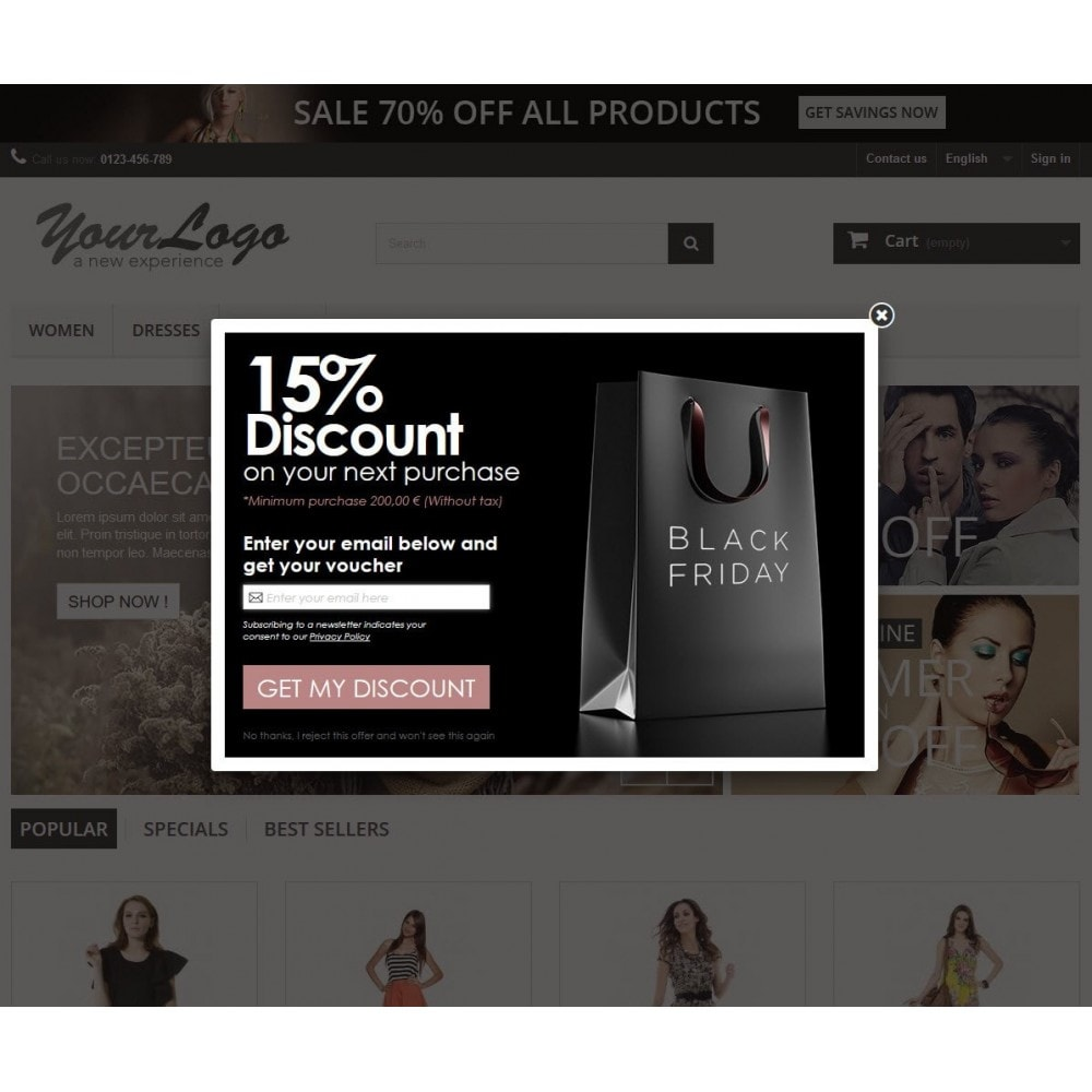 module - Pop-up - Email Leads Collector Popup with Discount Coupon - 8