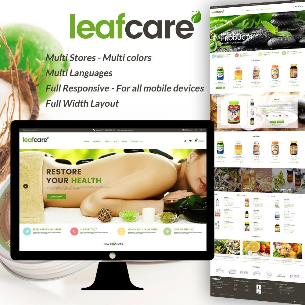 theme - Health & Beauty - LeafCare - Bio Medical Store - 1