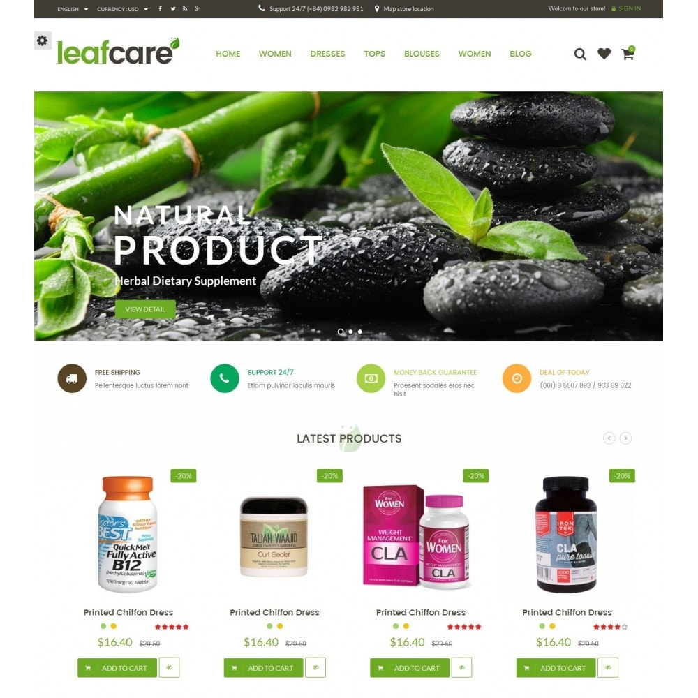 theme - Health & Beauty - LeafCare - Bio Medical Store - 2