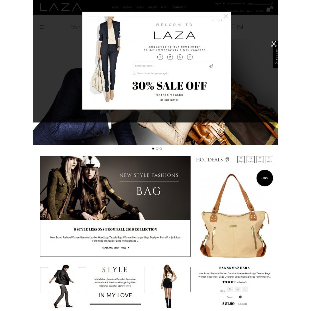 theme - Mode & Chaussures - Laza Fashion Store - 2