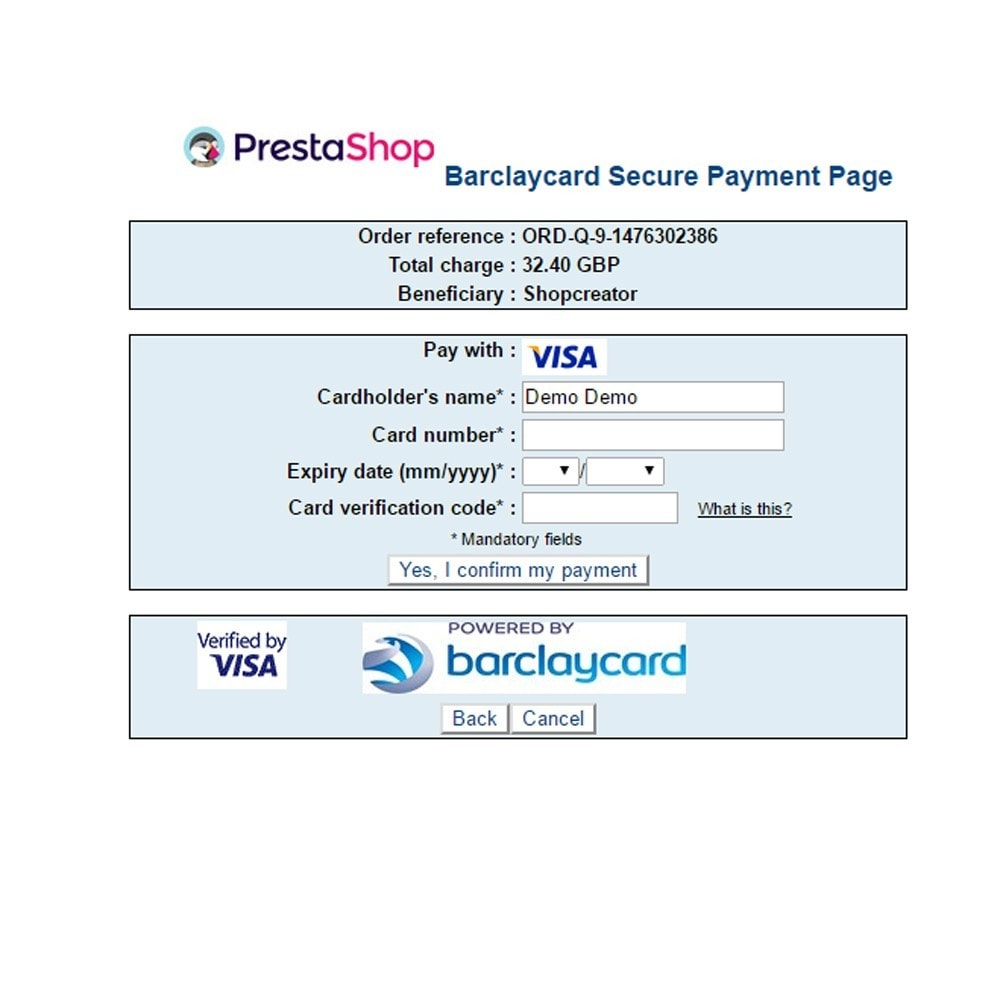module - Payment by Card or Wallet - Barclaycard ePDQ Payment Gateway - 4