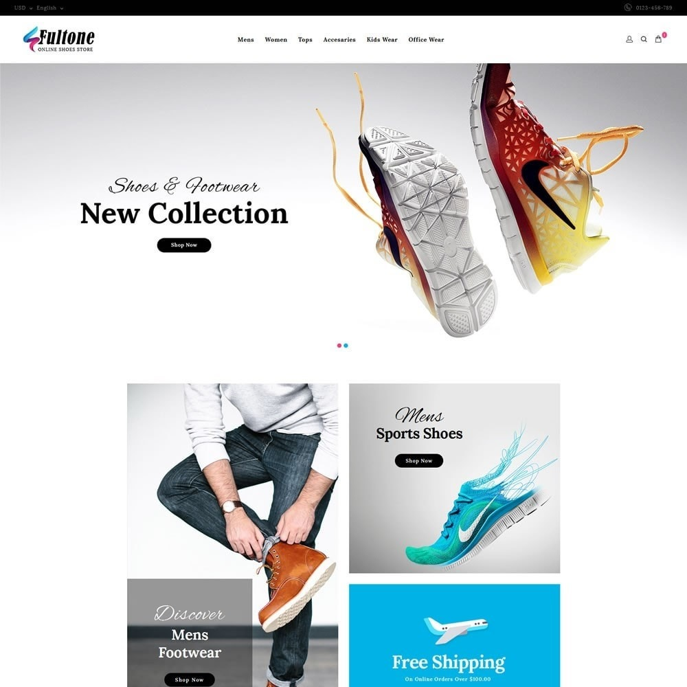 theme - Fashion & Shoes - Fultone - Footwear Store - 2