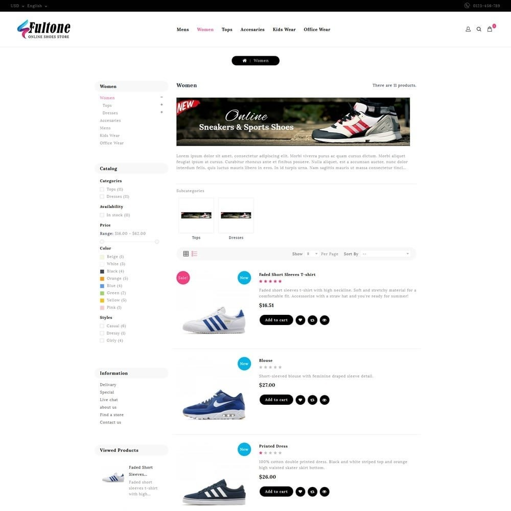 theme - Fashion & Shoes - Fultone - Footwear Store - 4