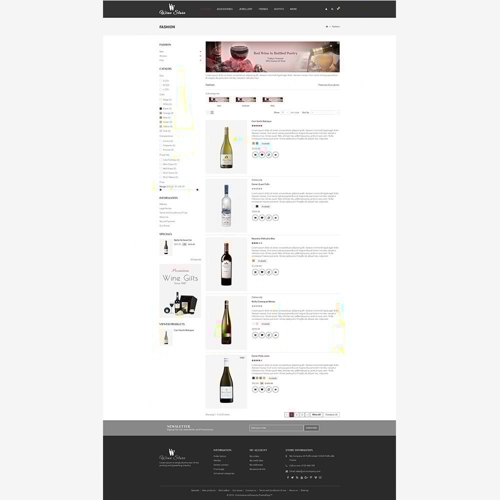 theme - Napoje & Wyroby tytoniowe - Wine Store - 6