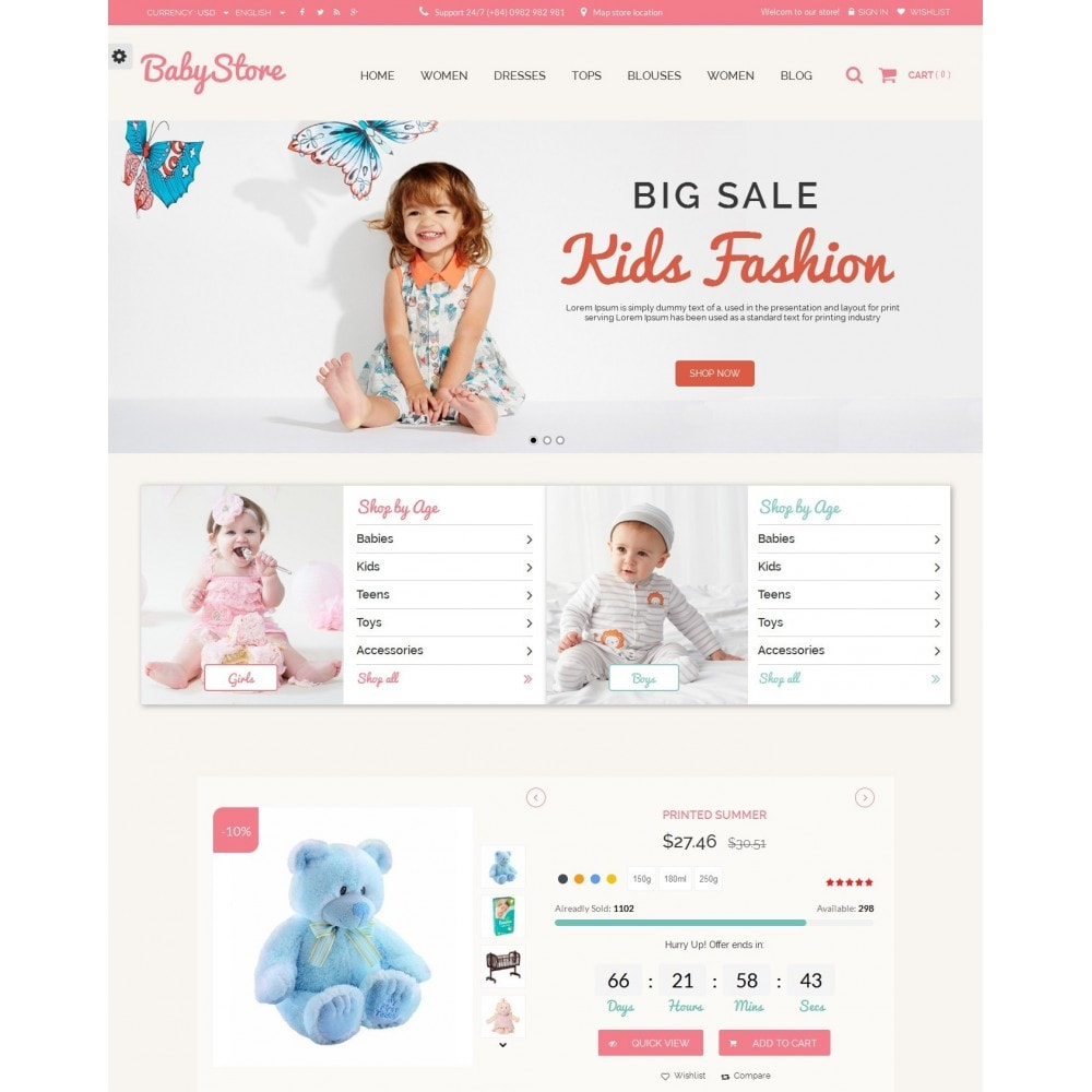 theme - Kids & Toys - Smart Baby And Kids Store - 2