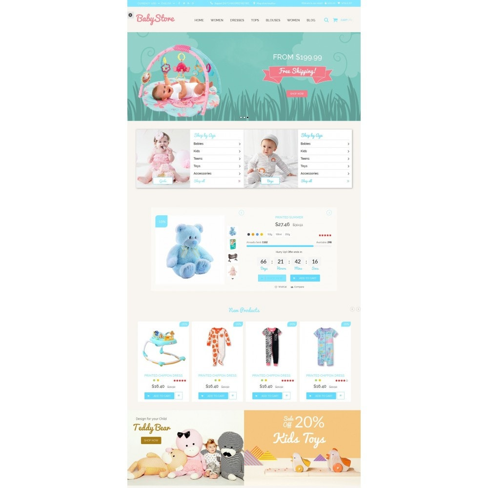 theme - Kids & Toys - Smart Baby And Kids Store - 4