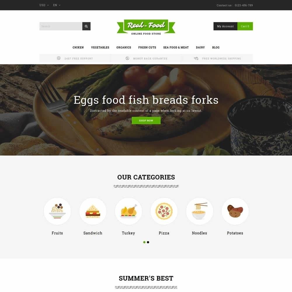 theme - Gastronomía y Restauración - Real Food Store - 2