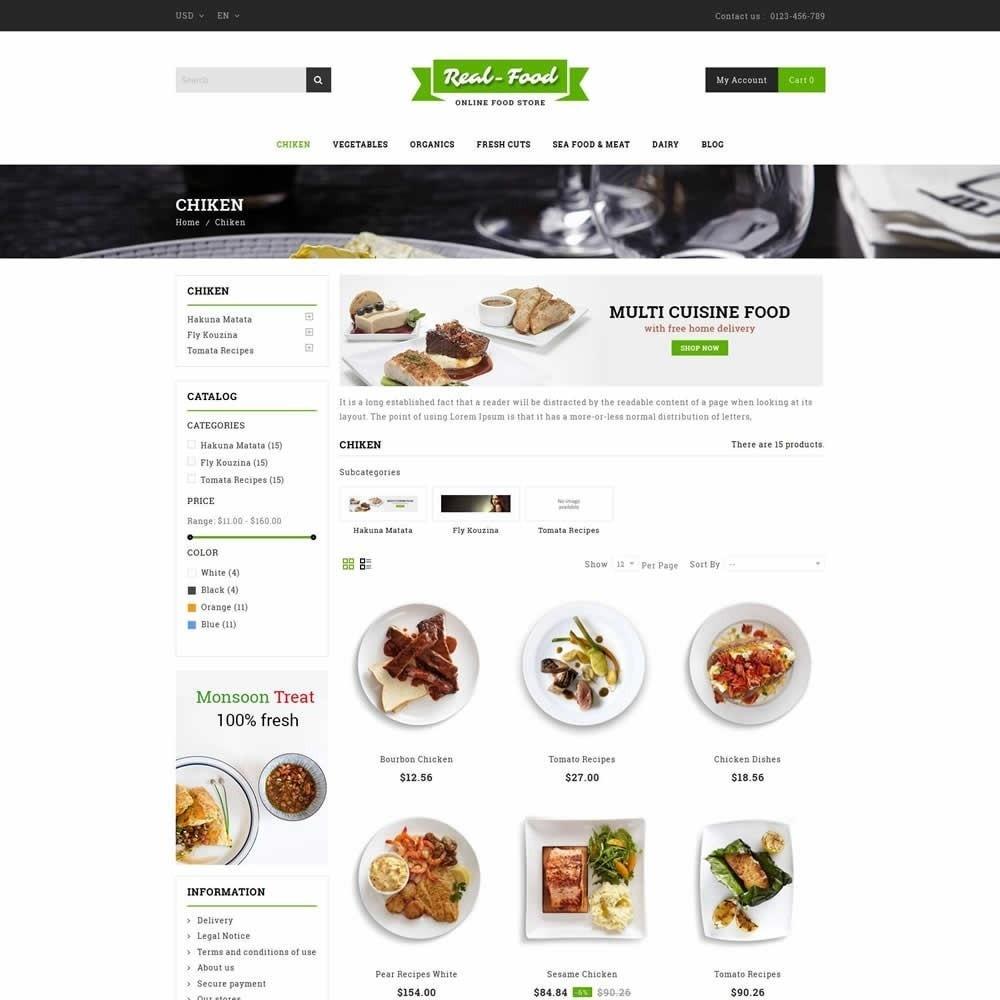 theme - Gastronomía y Restauración - Real Food Store - 3