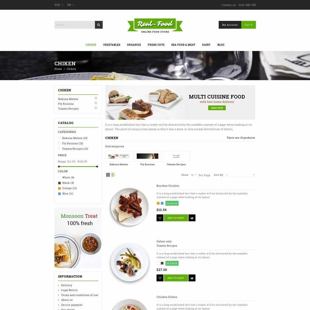 theme - Gastronomía y Restauración - Real Food Store - 4