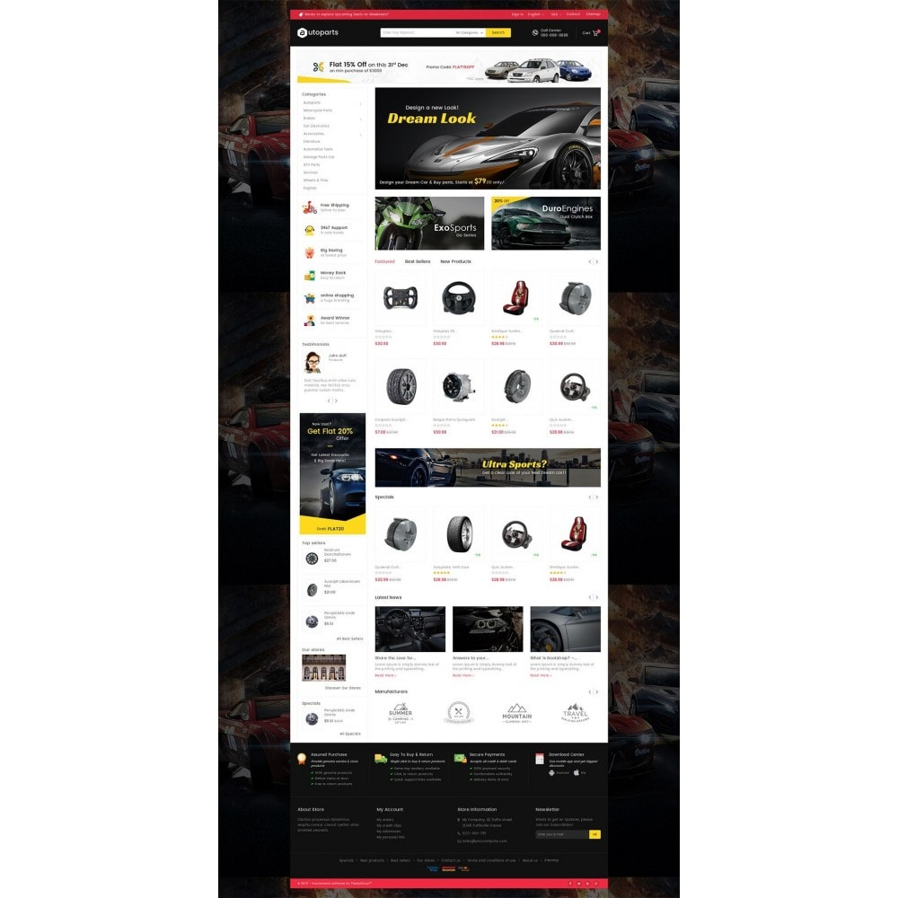 theme - Automotive & Cars - Mega Auto Parts - 2