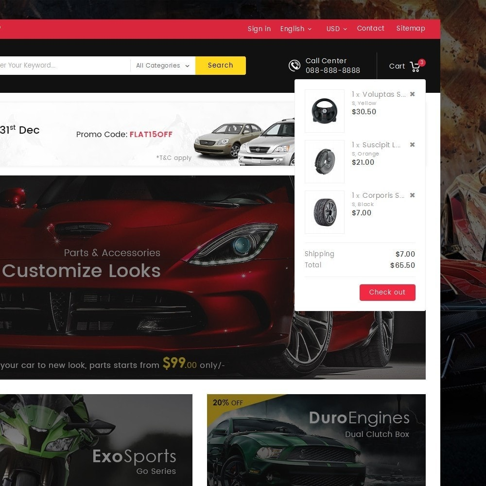 theme - Automotive & Cars - Mega Auto Parts - 9
