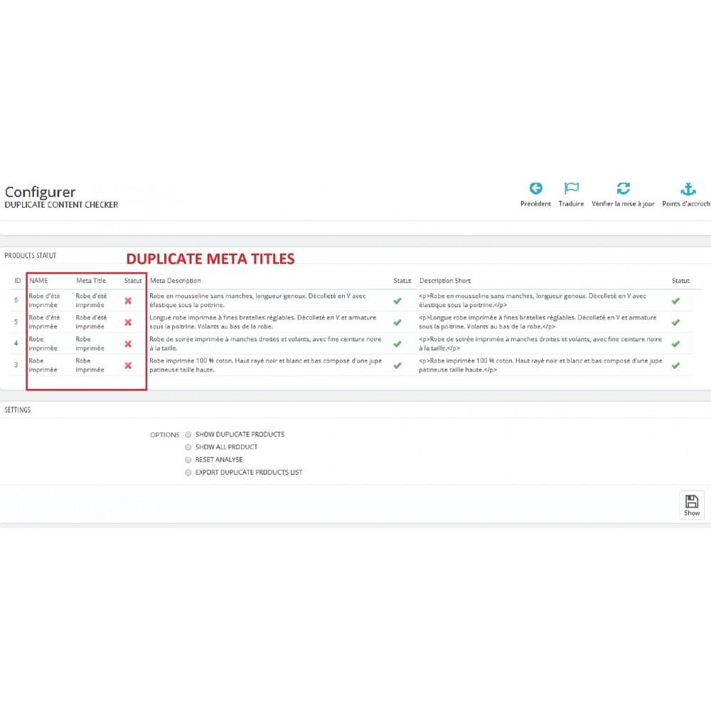module - SEO - DUPLICATE CONTENT CHECKER - 1