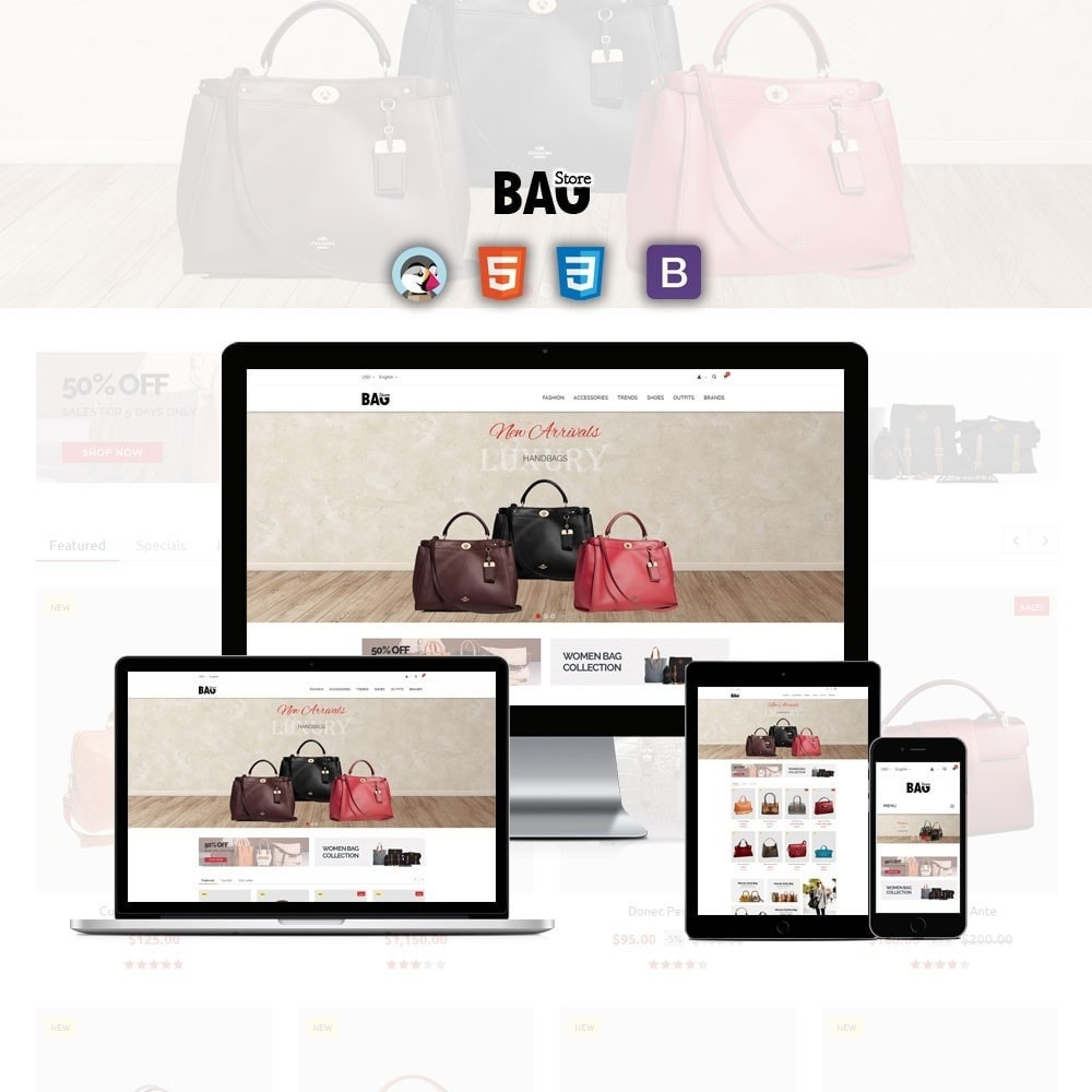 theme - Moda & Calçados - Bag Store - 1