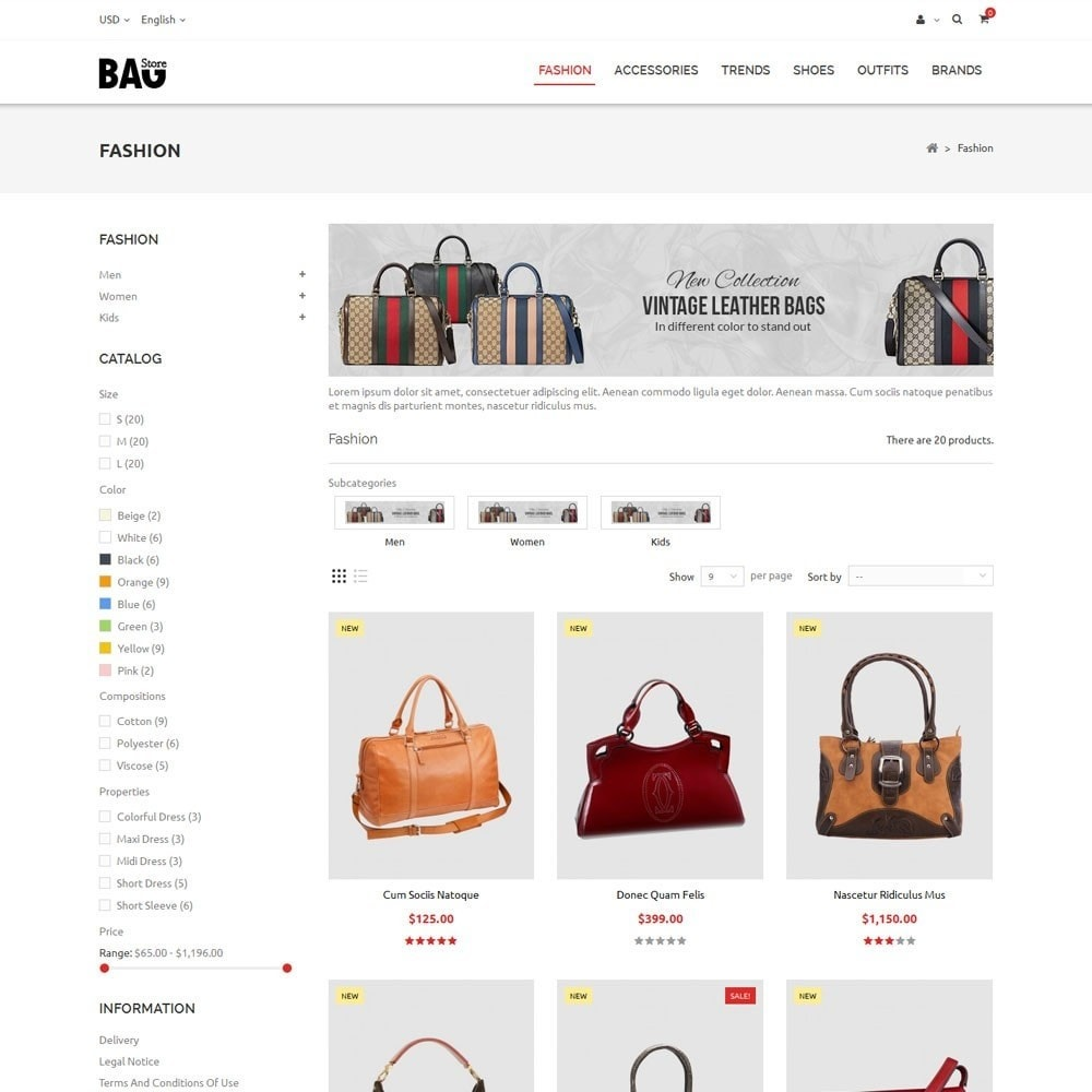 theme - Moda & Calçados - Bag Store - 3