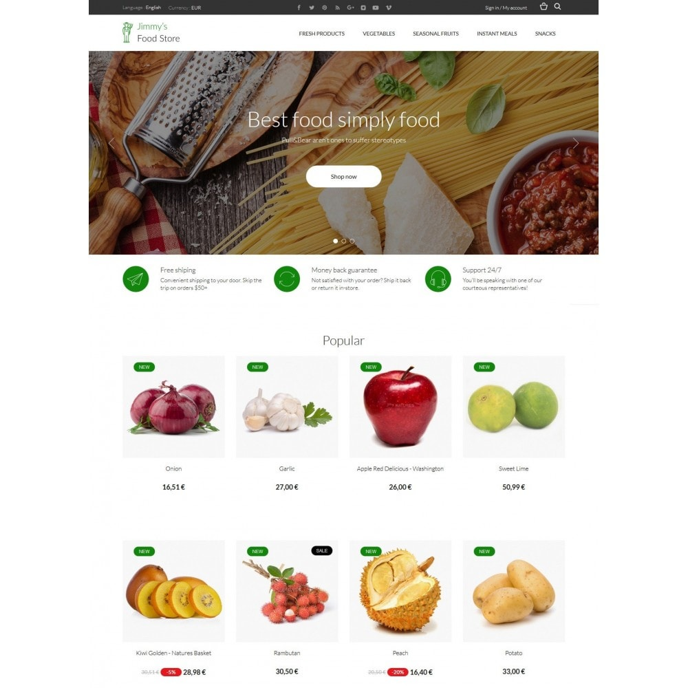 theme - Eten & Restaurant - Jimmy's Food Store - 3