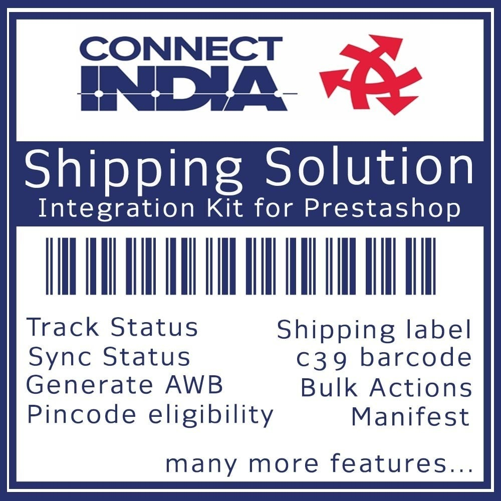 module - Shipping Carriers - Connect India Tracking and Shipping Solution - 1