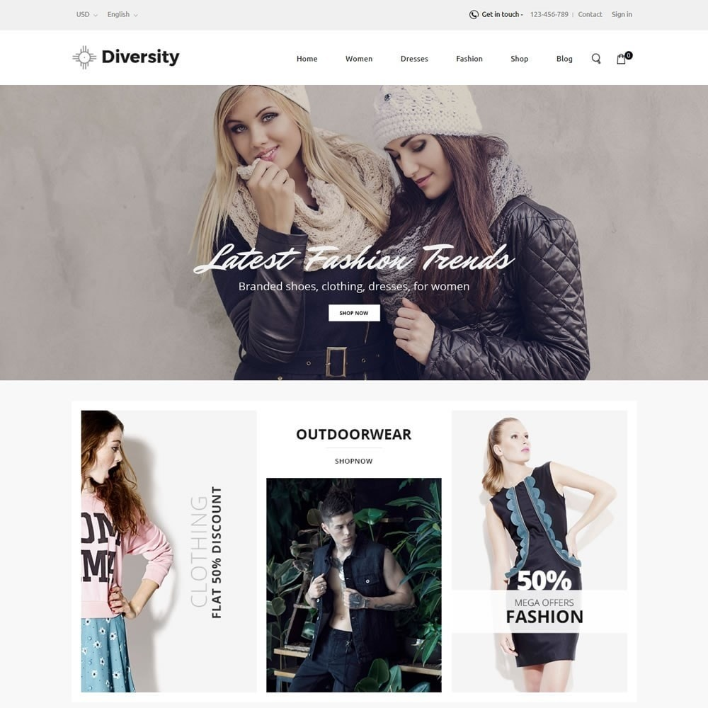 theme - Mode & Chaussures - Diversity - Fashion Store - 2