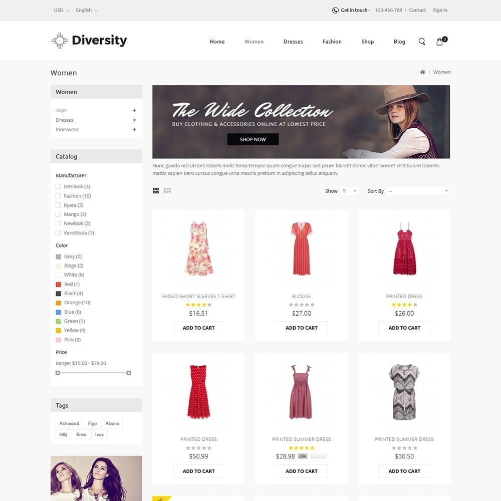 theme - Mode & Chaussures - Diversity - Fashion Store - 3