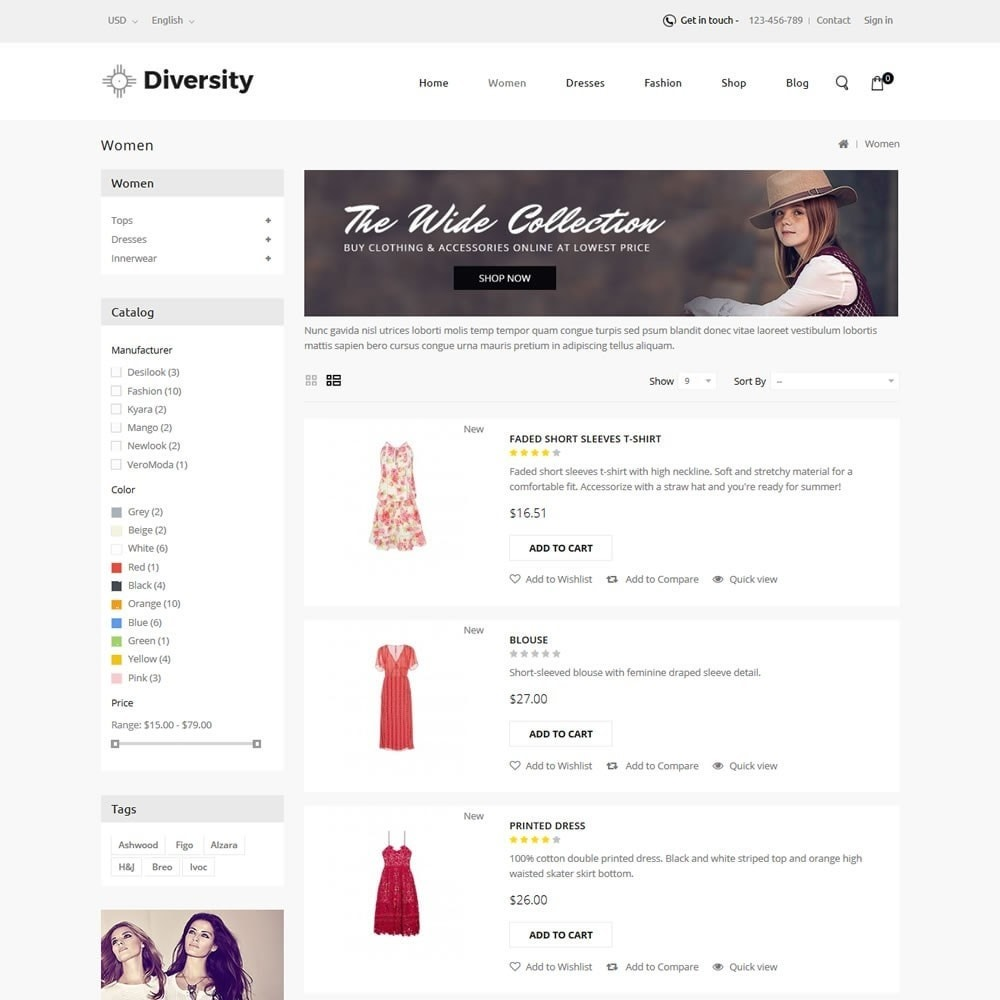 theme - Mode & Chaussures - Diversity - Fashion Store - 4