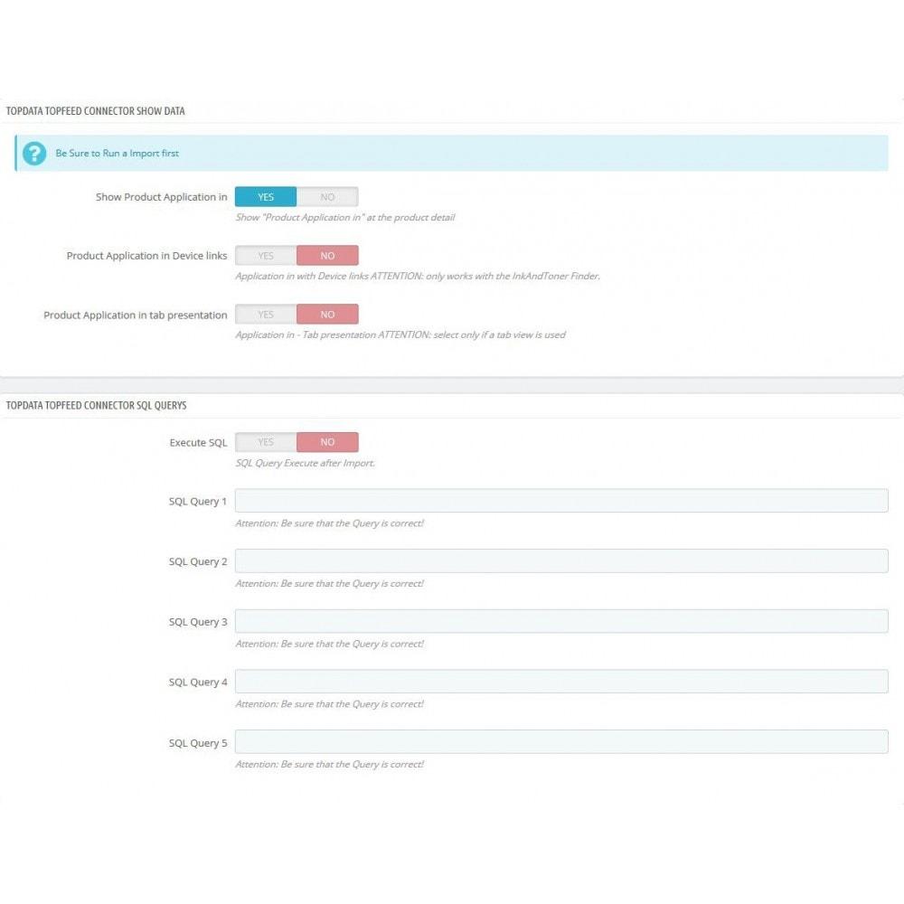 module - Informaciones adicionales y Pestañas - TopFEED Connector - 3