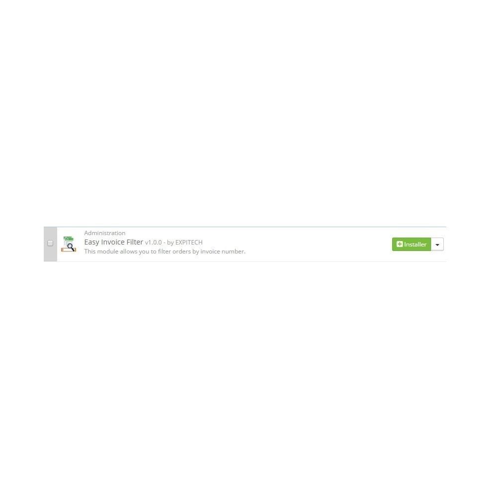 module - Gestion des Commandes - Rechercher par numéro de facture - Easy Invoice Filter - 2