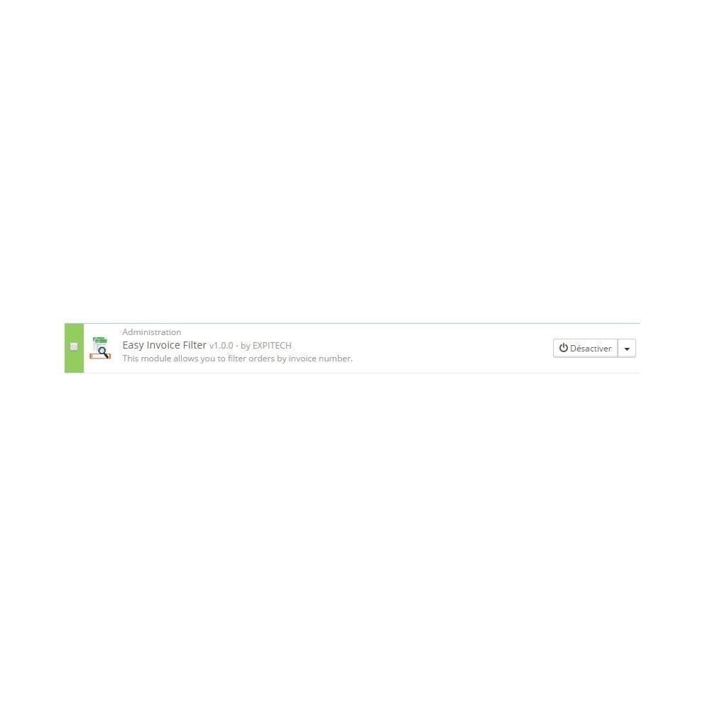 module - Gestion des Commandes - Rechercher par numéro de facture - Easy Invoice Filter - 3