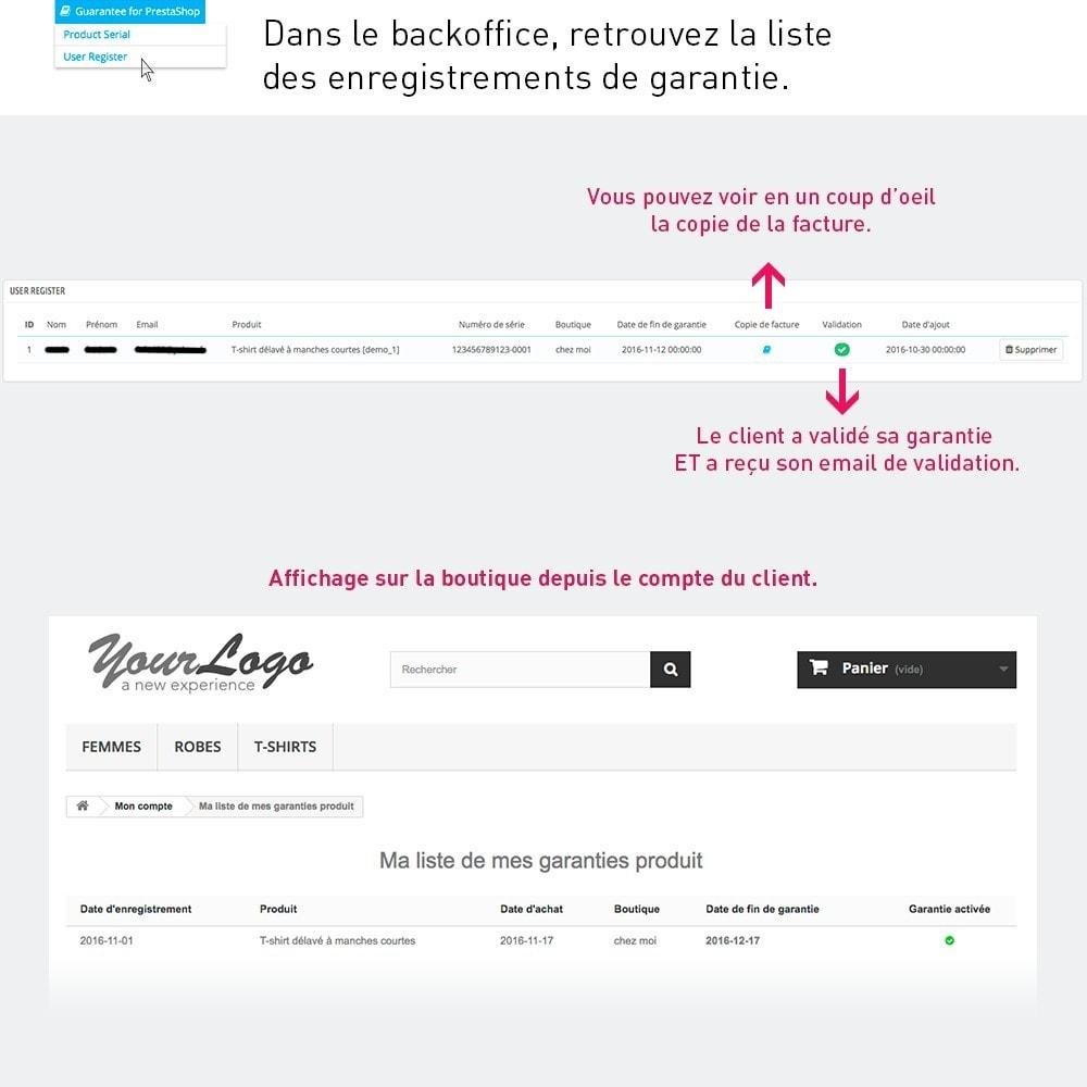 module - Inscription & Processus de commande - Enregistrement de garantie produit par le client - 4