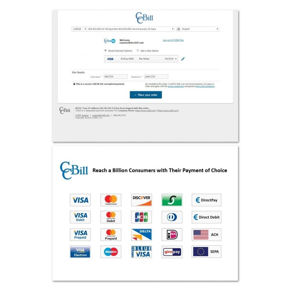 module - Paiement par Carte ou Wallet - CCBill USA, Canada, U.K. & EU - 2