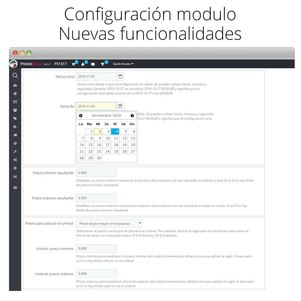 module - Promociones y Regalos - Incremento/Descuento de precio por grupo, categoría... - 3