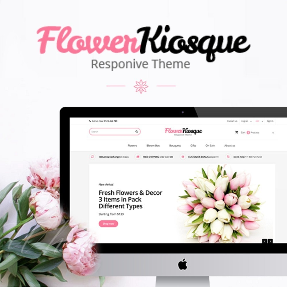 theme - Gifts, Flowers & Celebrations - Flower Kiosque - 1