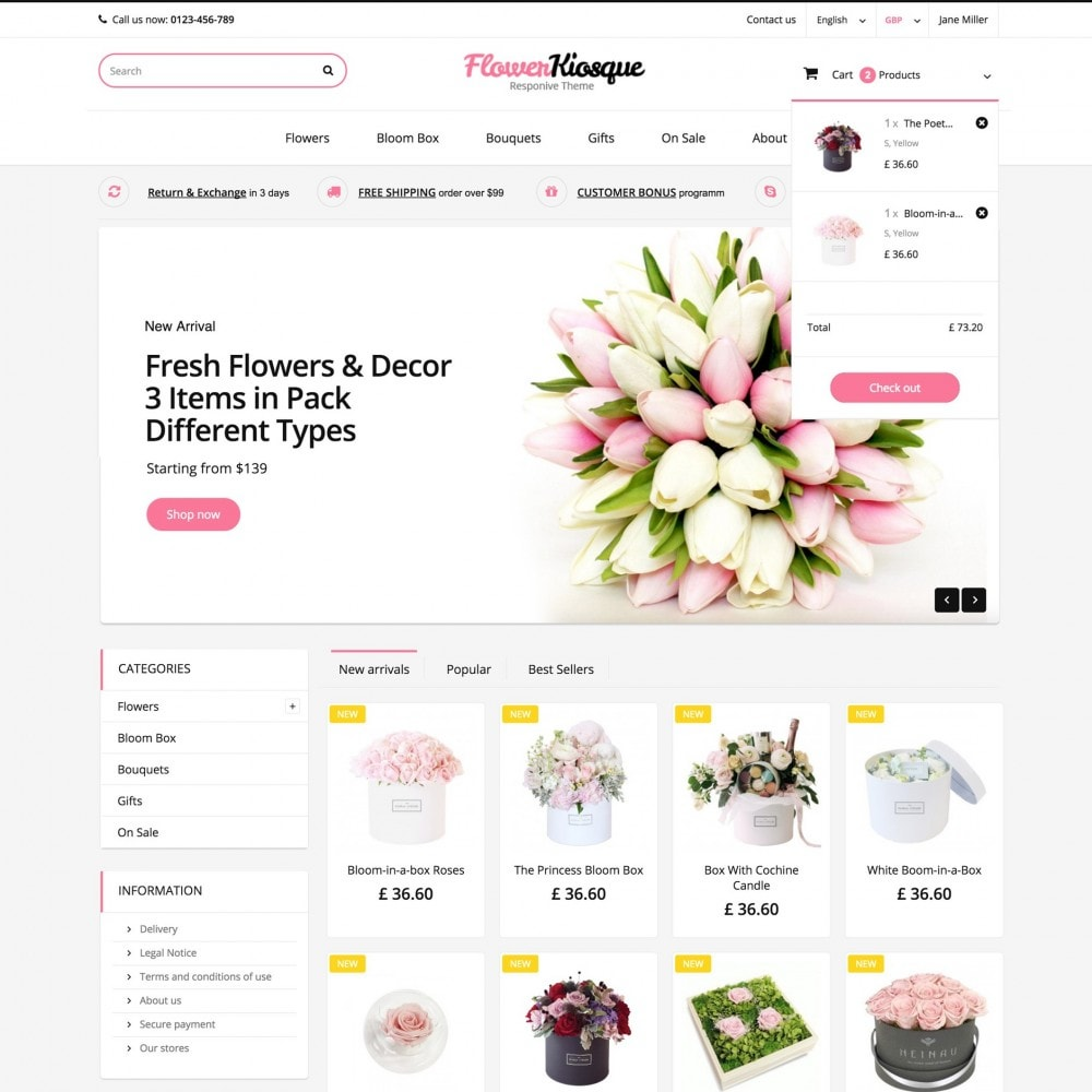 theme - Gifts, Flowers & Celebrations - Flower Kiosque - 2