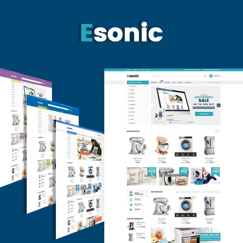theme - Electronique & High Tech - Esonic Suppermarket Store - 1