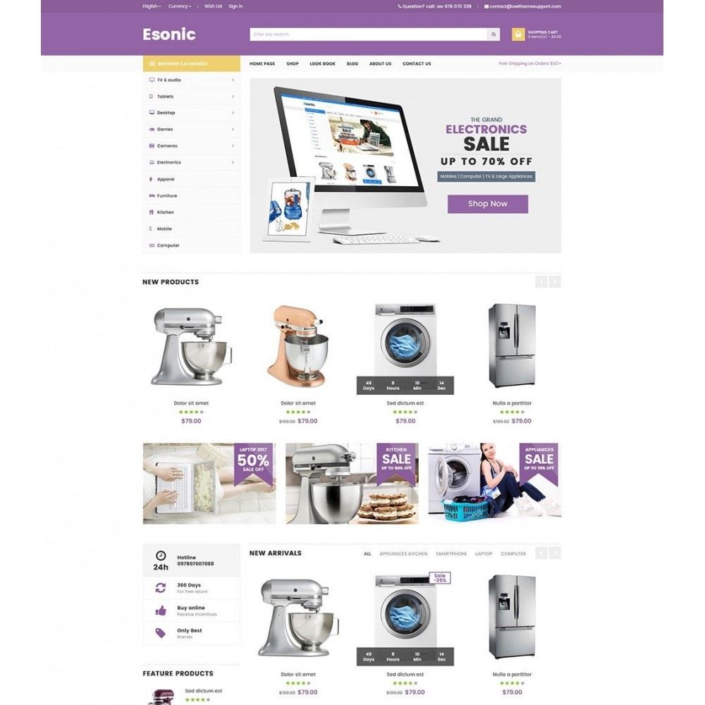 theme - Electronique & High Tech - Esonic Suppermarket Store - 5