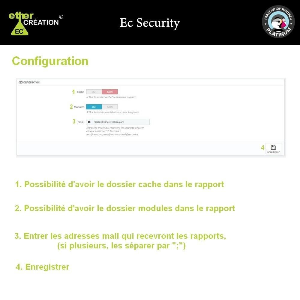 module - Sécurité & Accès - Rapport des fichiers modifiés de votre boutique - 3
