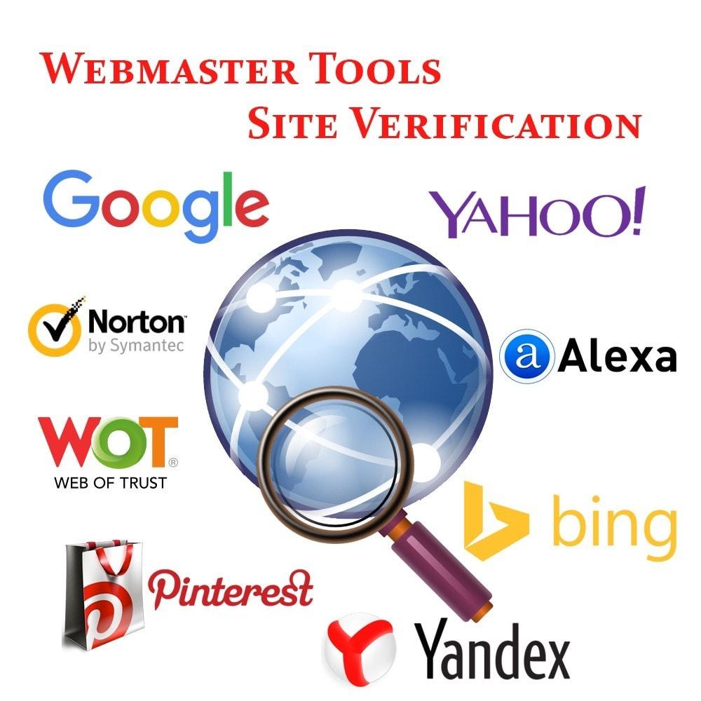 module - SEO (Indicizzazione naturale) - Webmaster Tools Site Verification - 1