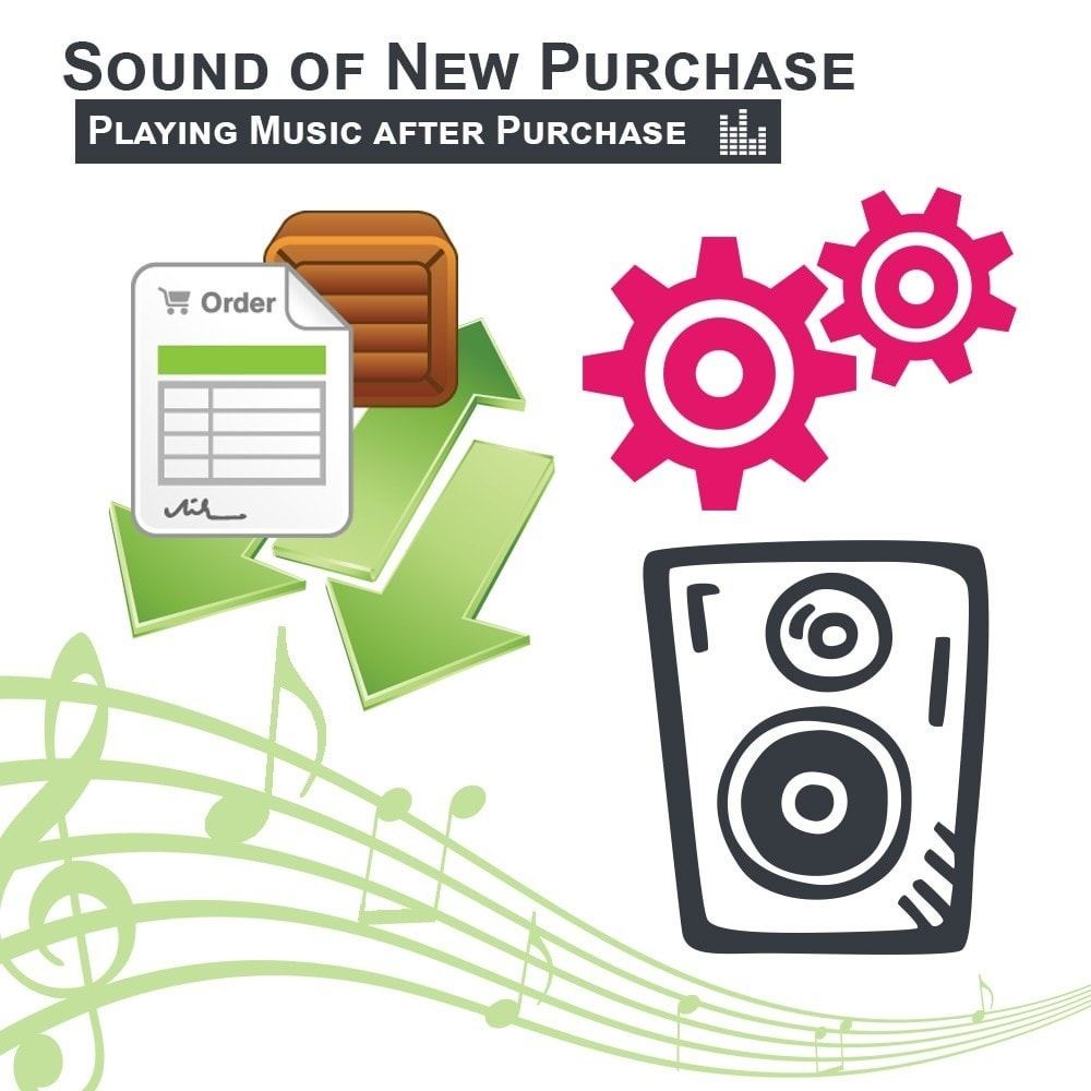 module - Gerenciamento de pedidos - Sound of New Purchase Playing Music after Purchase - 1