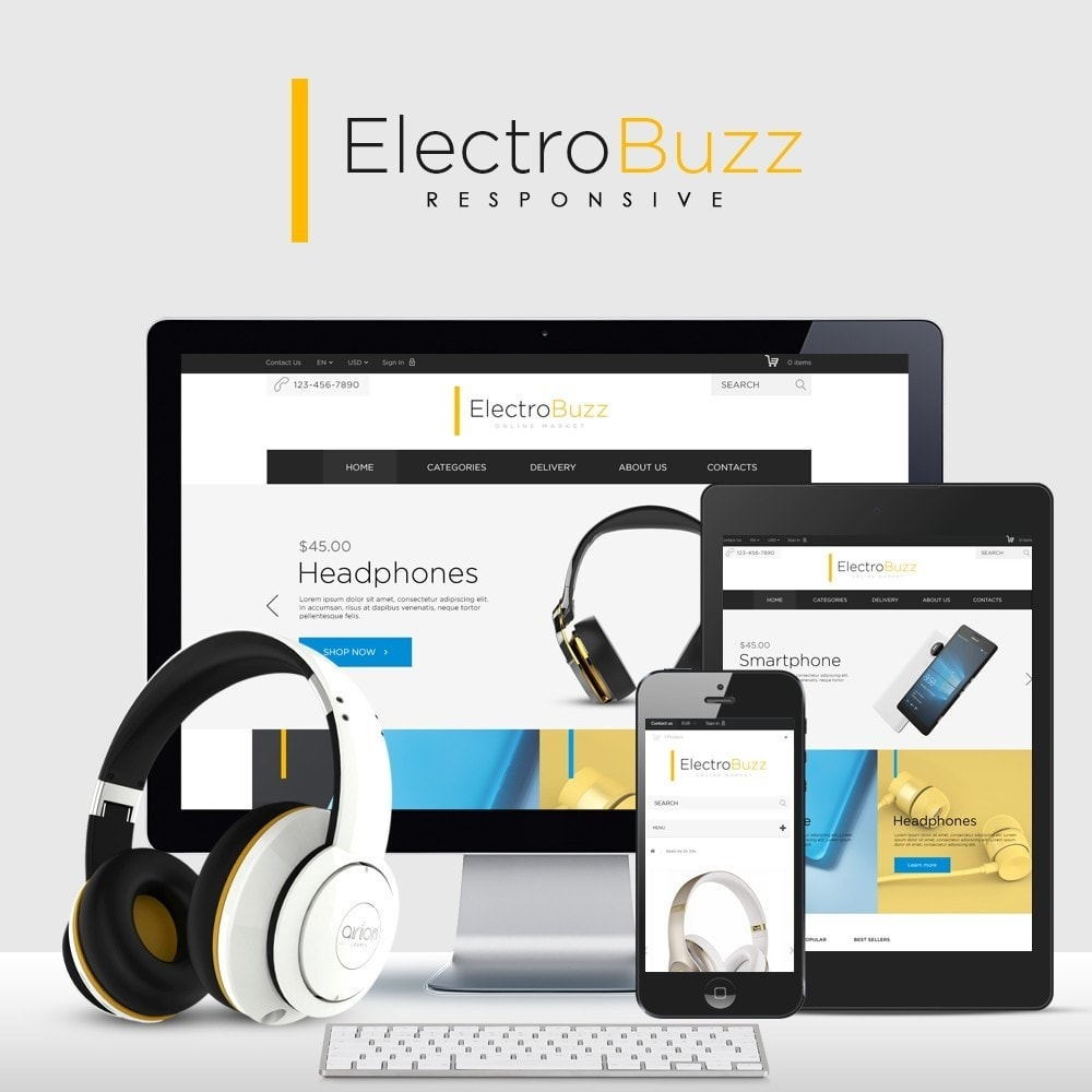 theme - Электроника и компьютеры - Electrobuzz High-tech Shop - 1