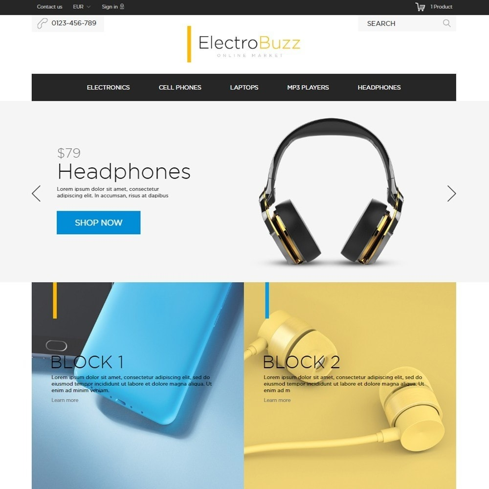theme - Электроника и компьютеры - Electrobuzz High-tech Shop - 2