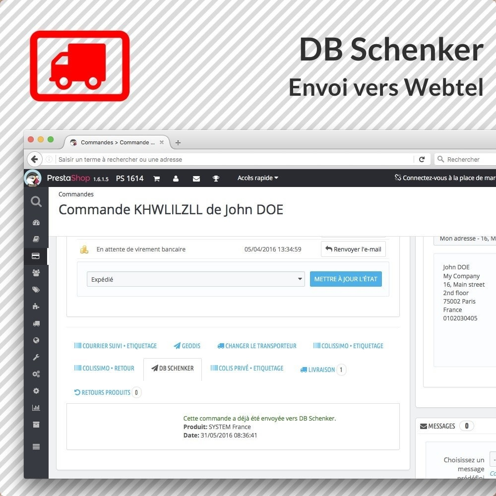 module - Voorbereiding & Verzending - DB Schenker France - 2