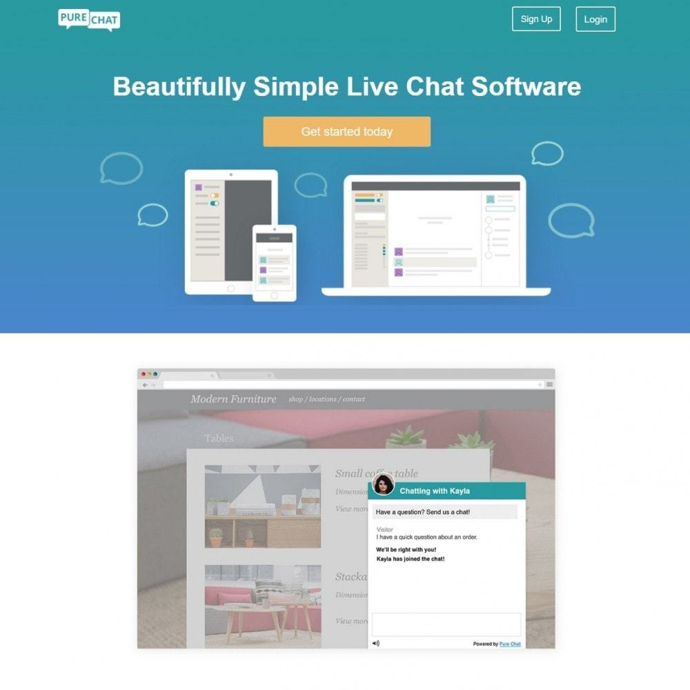 module - Support & Chat Online - Purechat - Live Chat and Website Visitor Tracking - 2