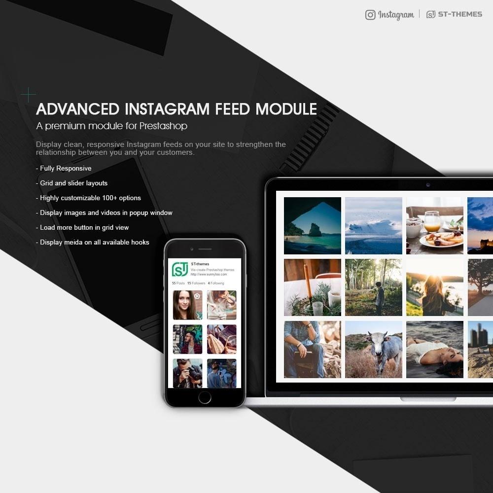 module - Widgety serwisów społecznościowych - Advanced social feed - 1