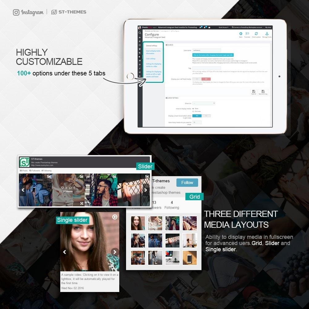 module - Widgety serwisów społecznościowych - Advanced social feed - 4